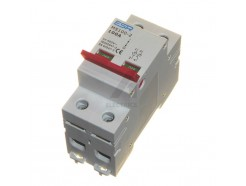 100 amp double pole isolator (DIN rail mount)