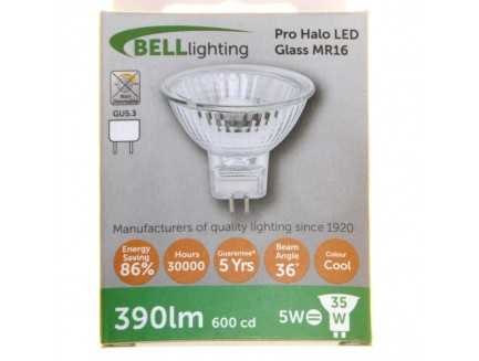 LED 35 Watt Equiv. MR16 12V Lamp Cool White GU5.3