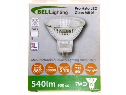 LED 50 Watt Equiv. MR16 12V Lamp Daylight White GU5.3