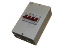 125A Changeover Switch in Metalclad Box 240V Mains - Generator