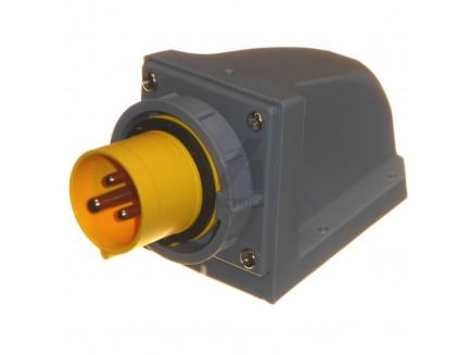 16A 2P+E 110V IP67 Appliance Socket Yellow