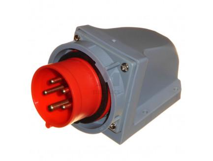 16A 3P+N+E 415V IP67 Appliance Socket Red