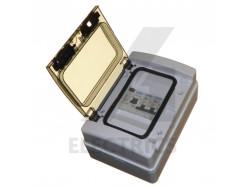 2 Way Consumer Unit 100A Isolator 6A 16A MCB IP65