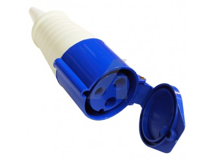 16A 3 pin industrial coupler 240V IP44 blue