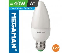 LED 40 Watt Equiv. Candle Lamp ES Standard Screw In Cool White