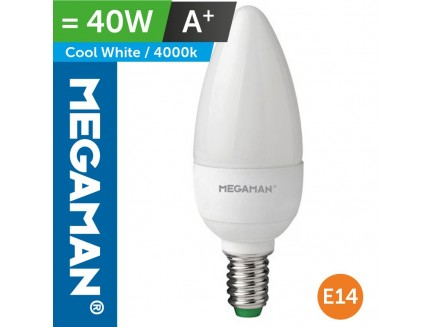 LED 40 Watt Equiv. Candle Lamp SES Small screw in Cool White