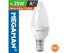 LED 25 Watt Equiv. Candle Lamp SBC Warm White