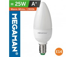 LED 25 Watt Equiv. Candle Lamp SES Warm White