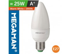 LED 25 Watt Equiv. Candle Lamp ES Screw In Warm White