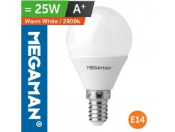 LED 25 Watt Equiv. Golf Ball Bulb SES Small screw in Warm White