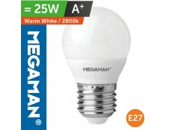 LED 3.5 Watt Golf Ball Bulb ES E7 Screw In Warm White
