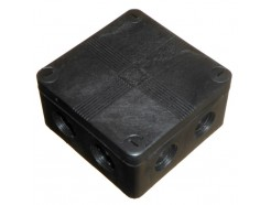 IP66 Waterproof Junction Box 90mm Black