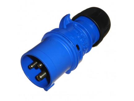 16A 3 Pin Plug 240V IP44 Blue