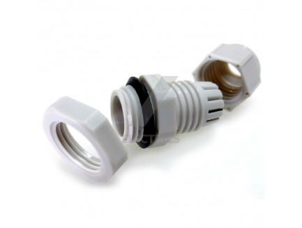 16mm grey IP68 cable gland for 4 - 8mm cable
