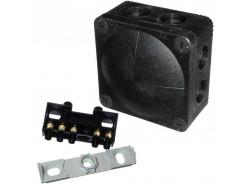 Wiska 308/5 Black Junction Box