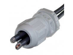 Wiska 2x 1.5mm T&E Cable Gland - Grey