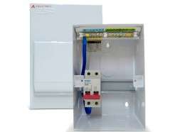 Metal 4 Way Consumer Unit with 100A Isolator Switch