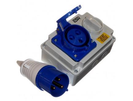 32A 230V 3 Pin Interlock Socket and Plug
