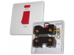45A DP Cooker Switch With Neon 1 Gang