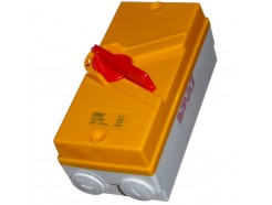 35A 4 Pole Lever Isolator Switch IP65 Yellow