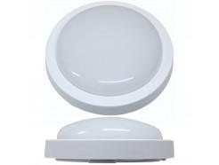 12W LED IP65 White Circular Bulkhead Light