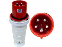 125A 5 Pin 415V Plug IP67 Red