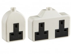 Trailing extension socket TPR rubber heavy duty white, single / double