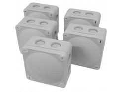 5pk Wiska 308 Grey Combi Junction Box