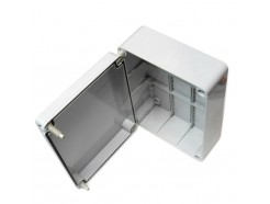 Large junction box weatherproof to IP56 240mm x 19mm x 90mm rectangle
