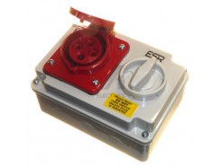 16A 4 Pin 3 Phase Interlock Socket