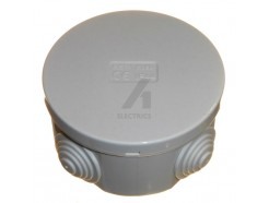 80mm round IP44 Junction Box WIth Removeable Grommets