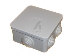 80mm Square IP44 Junction Box With Rubber Grommets