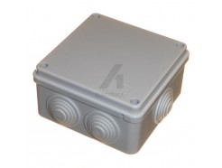 100mm x 40mm square weatherproof junction box with rubber grommets