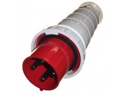 125A 4 pin industrial plug 415V IP67 red