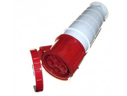 125A 4 pin industrial coupler 415V IP67 red
