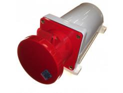 125A 3 pin industrial socket 240V IP67 blue