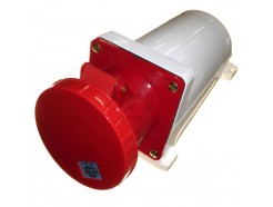 125A 5 pin industrial socket 415V IP67 red
