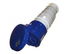 125A 3 pin industrial coupler 240V IP67 blue